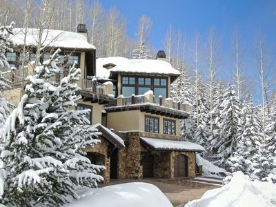 Photo for 50 Yards from Ski Run, Forest Road, Outdoor Hot tub, Mountain Views
