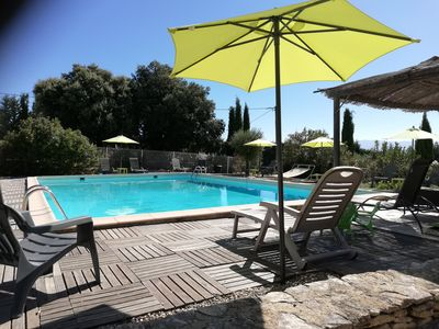 Photo for House 5 pers, air-conditioned, swimming pool 11x7, from 350 to 930 euros the week