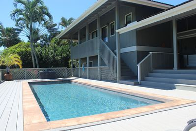 Private pool just steps down from our covered lanai.