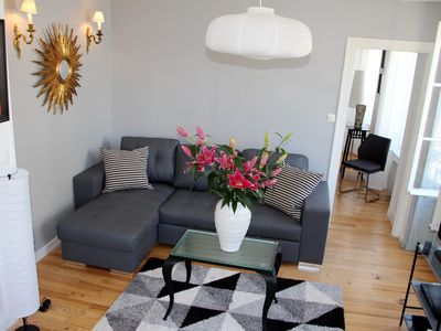 Photo for Stylish apartment in the Upper Town of Granville