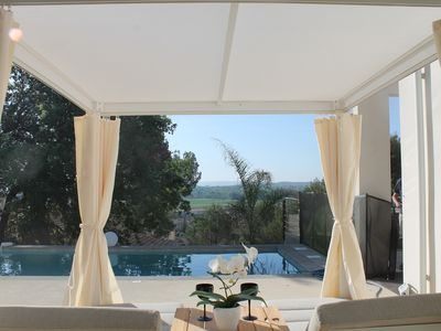 Photo for Architect house ZEN, luxury, view, calm, Provence Ardèche, Uzès, Avignon, Arles