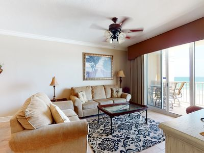 Photo for 5th Floor Gulf Front Condo! Shared Amenities, Nearby Shopping & Dining!