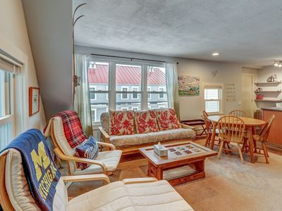 Photo for NEW LISTING! Renovated 1920s ski condo, walk to dining, on bus route to slopes!