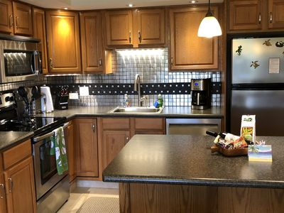 Kitchen Area Up Close with Stainless Steel Appliances.