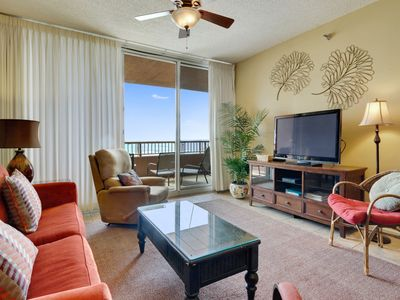 Doral 303 has a direct Gulf & Beach Views, an HDTV with DVD player & free WiFi!