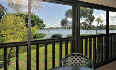 Lanai with views of the Intracoastal Waterway