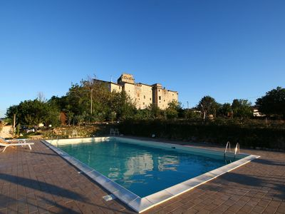 Photo for Castle in Gualdo Cattaneo with Swimming Pool,Garden,Bicycles