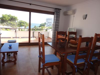 Photo for Lovely apartment in Cala Ferrera with sea views