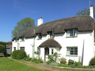 Photo for Pound House, idyllic English thatched cottage