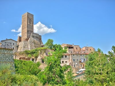 Photo for Restored Medieval Home Beneath 900 year old Tower in Introdacqua, Abruzzo
