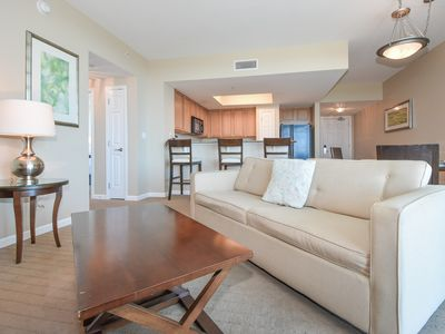 Photo for PRIVATE BALCONY, OPEN CONCEPT! Resort has LAGOON POOL, FITNESS ROOM, & more! 🌞