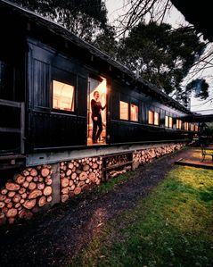 Photo for Vintage Train Carriage Converted to a Steampunk Inspired Cabin