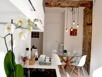 Photo for Bergamo, beautiful two-room apartment renovated in old house in historic hamlet