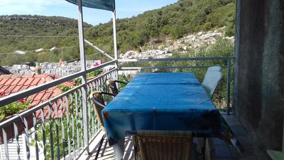 Photo for Two bedroom apartment with balcony and sea view Luka Dubrava, Pelješac (A-14040-b)