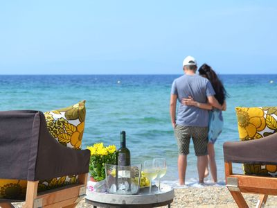 Photo for Elegant Luxury Beachfront Villa with Luxurious Pool, Outdoor BBQ and magnificent views at the Aegean