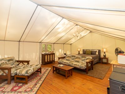 """Photo for Glamping at Copperhill - """"The Kayak"""""""