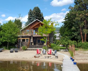 Photo for Naramata Lakefront home with Private Beach and Dock - The Apricot Club