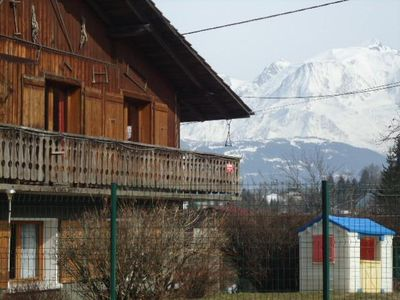 Photo for View not overlooked front of the chain of Mt BLANC ground floor with private terrace