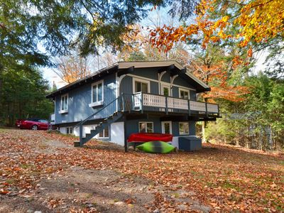 Photo for 4 Bedroom, 2 Bath Sleeps 12 - Swiss Chalet with Water View, Close to N Conway