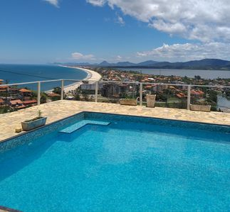 Photo for House in Ponta Negra with amazing view of the beach, the lake and the mountains