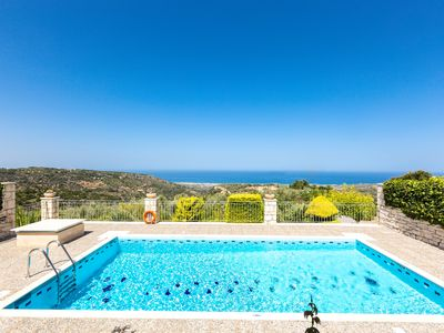 Photo for Villa Vaggelio, Panoramic Views in Total Quietness, Close to the Beach & City!