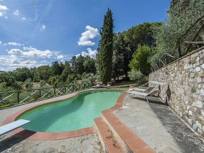 Photo for Ancient villa in Chianti with swimming pool