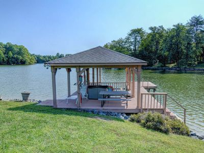 Photo for Lakefront home w/ game room, dock, private swimming area & water toys!