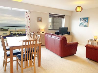 Photo for Pentewan is a 2 bedroom coastal apartment overlooking Fistral Beach