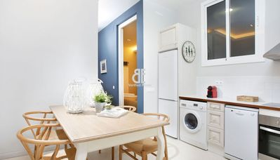 Photo for Homes in Blue - Spectacular luxury apartment decorated with a fresh and natural style. 2 bedrooms and 1 bathroom. Located near the Ramblas, the old town and Plaza España.