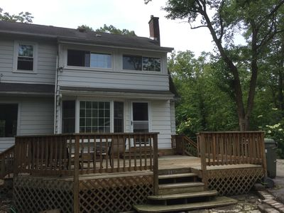 Photo for Historic and charming house on large wooded lot, 10 minute walk to Chicago train