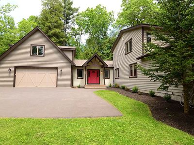 Serene lakefront home in private setting, w/ private dock and hot tub!