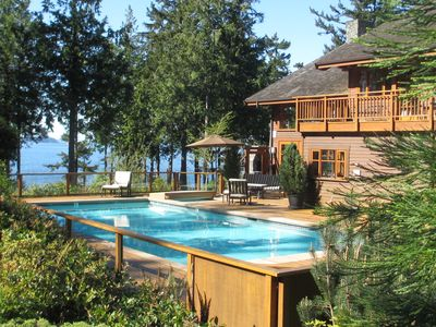 Photo for Point Williams Lodge .  Oceanfront Luxury . POOL . Hot Tub . Ultimate Privacy