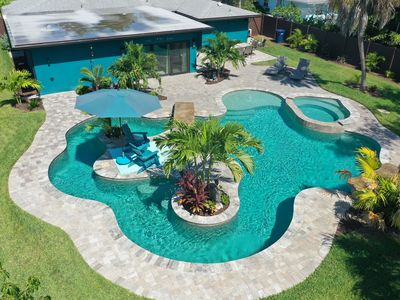 Photo for H2O Bungalow:Ground Level, Close to the Beach, Hot Tub, Heated Pool, Lazy River!