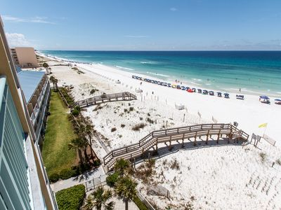 East view - check out that Emerald Coast!