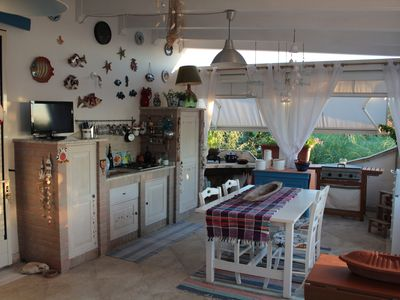 Photo for Penthouse with sea view 3 beds with equipped terrace, kitchenette