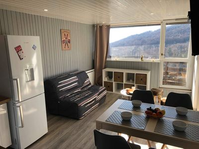 Photo for South facing apartment Super Besse ski slopes
