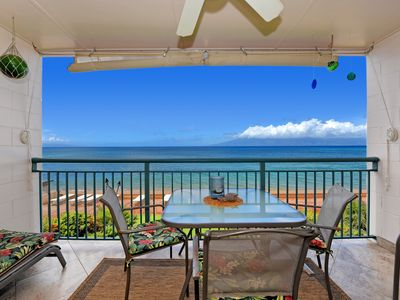 Photo for Makani Sands #203 1brm  Beachfront condo with balcony on the ocean