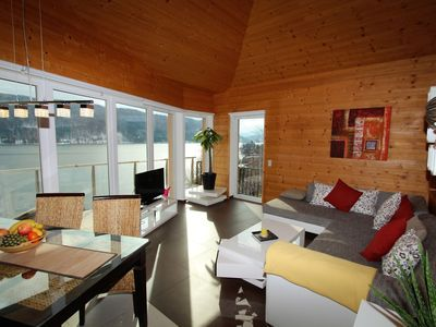Photo for Modern apartment with garden, balcony and very nice view over the Ossiachersee
