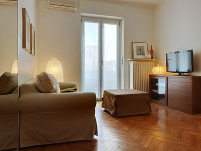 Photo for Central Milan Apartment with an Equipped Kitchen   15 Minutes from the Central Station!