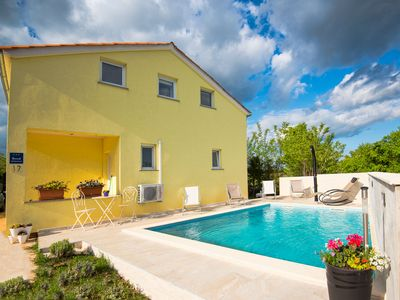 Photo for Cozy Holiday Home in Stokovci. Sleeps 8. Private Pool. 10km beach, 5km City