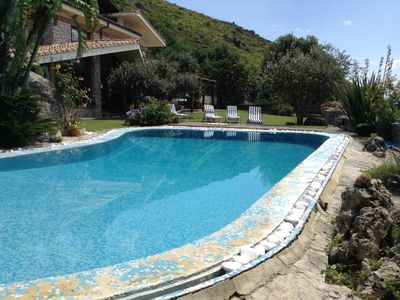 Photo for Small paradise, elegant villa with pool, sea view, between Rome and Naples