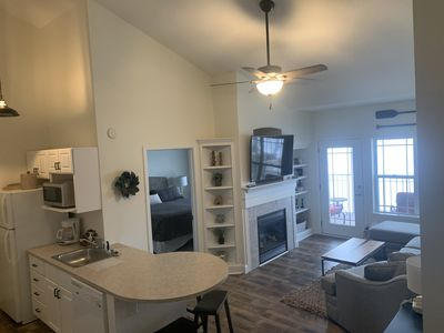 Photo for 311 - Professionally Rehabbed 2BR, 2BA Lake View Condo w/Fireplace