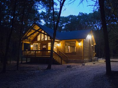 Photo for Rustic Charm - New Luxury Log Cabin