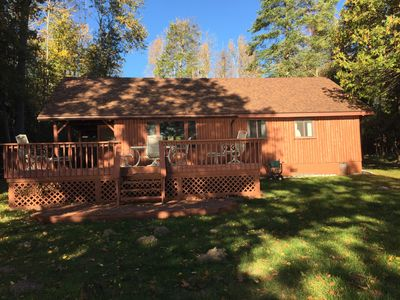 Photo for Beautiful cabin located on the North Shore of stunning Hubbard Lake