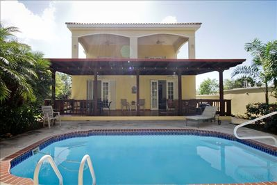 Private pool and lounge areas