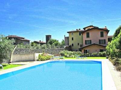Photo for Modern residence with swimming pool, on a hill at only 3km from Lake Garda.