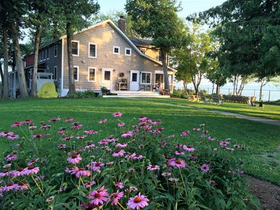 Expansive lawn; sweeping views; gardens; places to play...