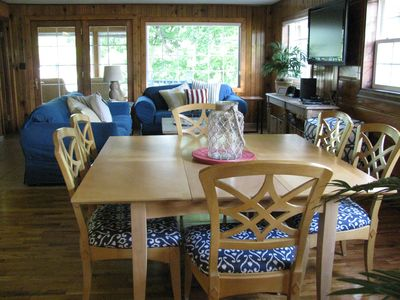Open floor plan, lots of natural light and great views of the lake