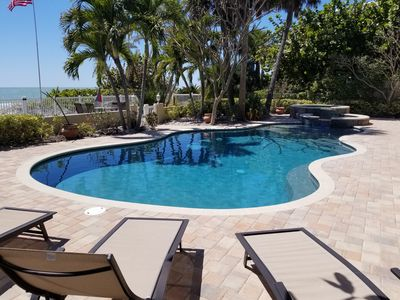 Pool view from patio
