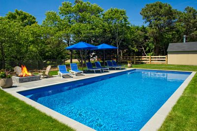 18 x 40 Heated Saltwater Pool with Firepit
